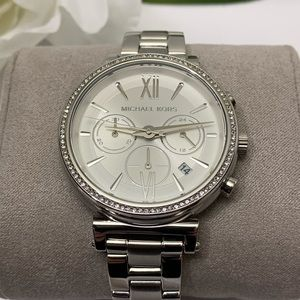 Michael Kors Sofie Chronograph Silver Dial Watch